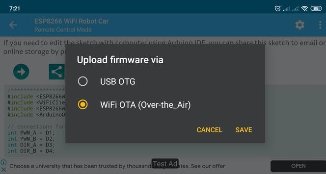 ESP8266 WiFi Robot Car screenshot 2