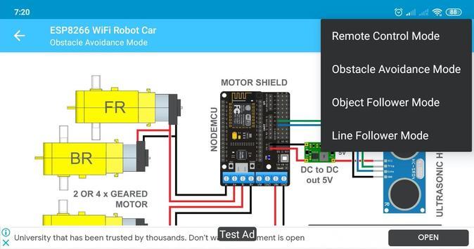 ESP8266 WiFi Robot Car screenshot 3
