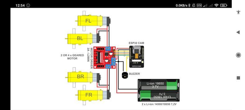 ESP32 Camera Wifi Robot Car - Live Video Streaming screenshot 3