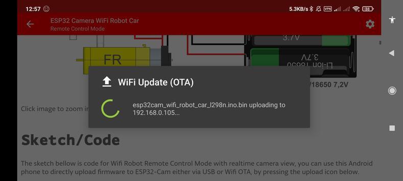 ESP32 Camera Wifi Robot Car - Live Video Streaming screenshot 4