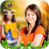 Auto Blur Background : automatically dslr camera icon