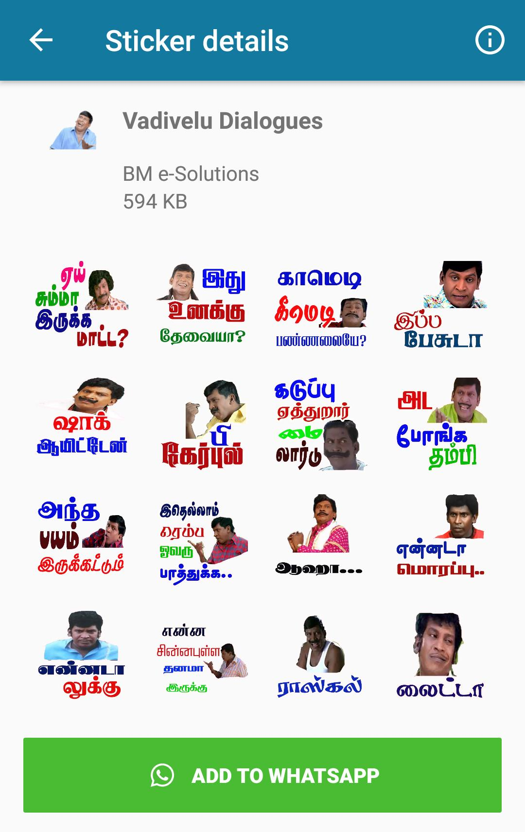 Tamil Stickers For WhatsApp - WAStickerApp for Android - APK