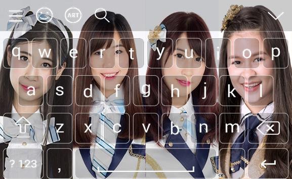BNK48 Keyboard theme screenshot 6