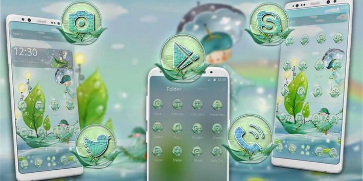 Green Boat Painting Theme screenshot 3