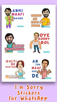 Sorry Stickers for WhatsApp - WAStickerApps screenshot 1