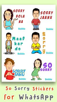Sorry Stickers for WhatsApp - WAStickerApps screenshot 2