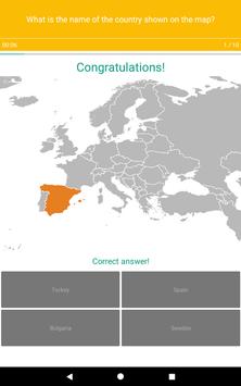 Europe Map Quiz screenshot 15