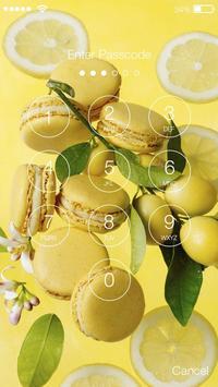 Macarons Rainbow Sweet Candy Screen Lock screenshot 1