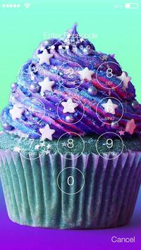 Unicorn Cupcake Candy Wallpaper Screen Lock screenshot 1