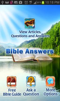 Bible Questions & Answers FAQ poster
