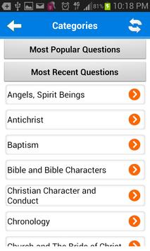 Bible Questions & Answers FAQ screenshot 1