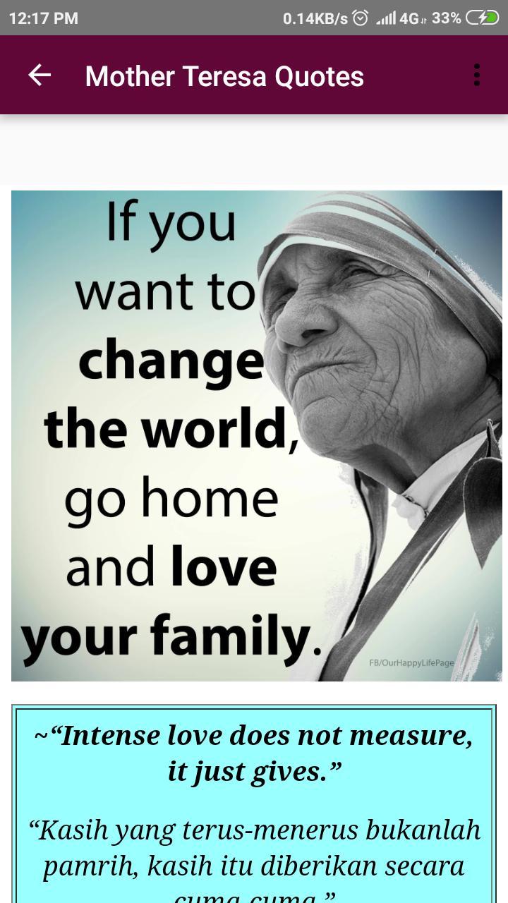 Kata Kata Bijak Mother Teresa