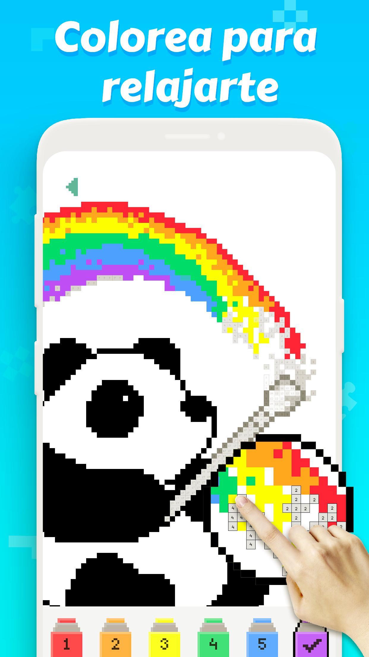 Pintar Con Números Pixel Art Libro De Colorear For Android