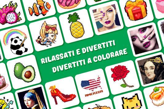 Poster Color by Number, Pixel Color - Pixel Art