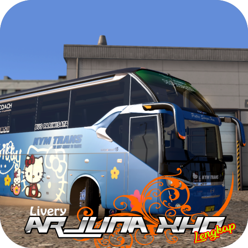 Livery Bus ARJUNA XHD Complete