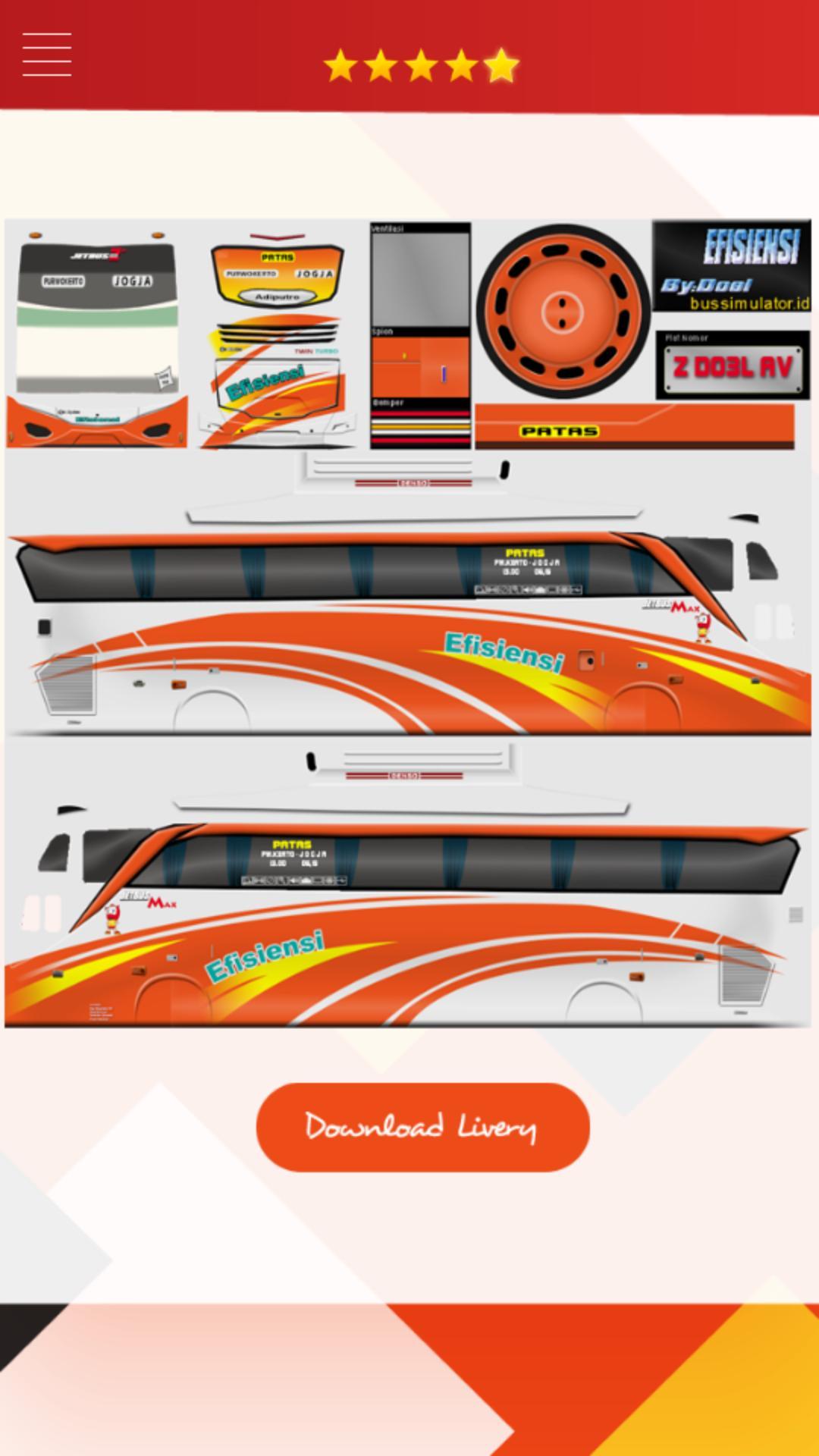 Livery Bus Shd Efisiensi