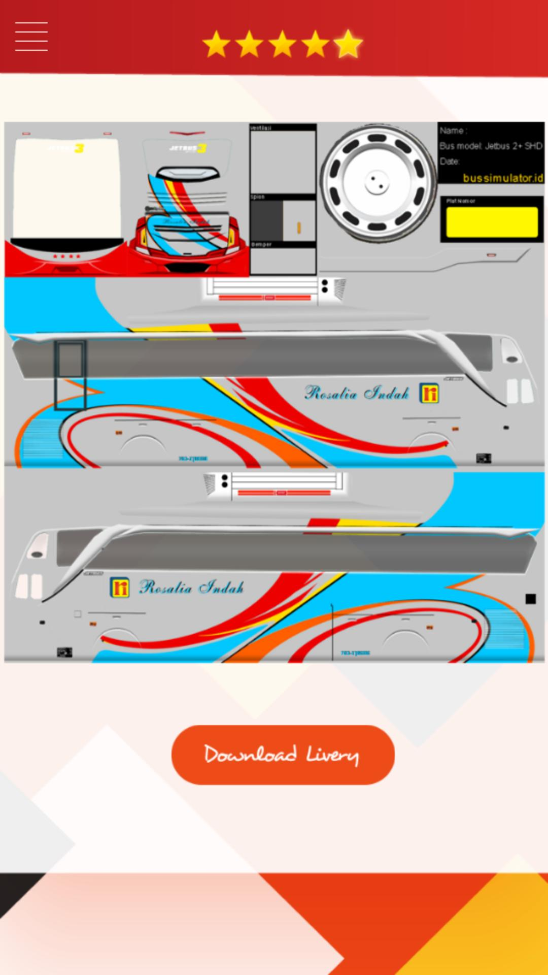 Livery Bussid Jetbus 3 Shd Update For Android Apk Download