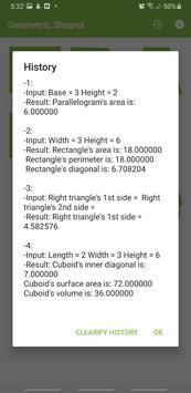 Geometric Shapes Calculator poster