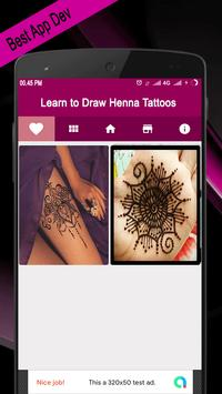 Learn to Draw Henna Tattoos screenshot 1