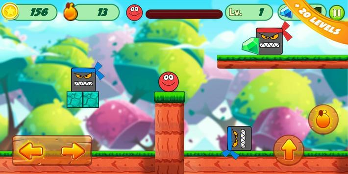 Fun Red Ball Adventure screenshot 3