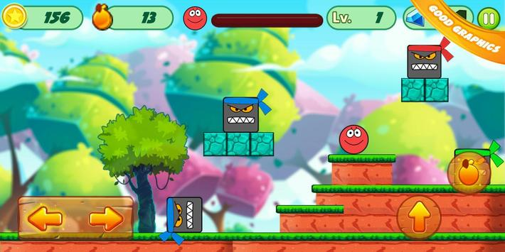 Fun Red Ball Adventure screenshot 2