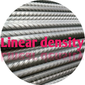 Linear density for rebar icon