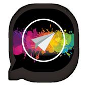 theme wa black transparan 2019 icon