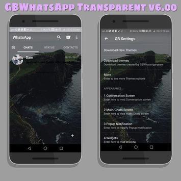theme wa black transparan 2019 screenshot 1