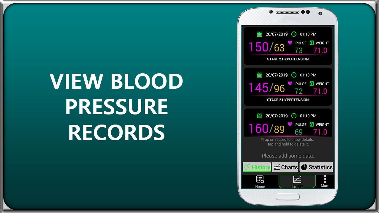 Blood Pressure Tracker Logger : BP Check History for Android