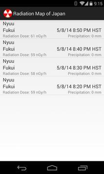 Radiation Map of Japan screenshot 2