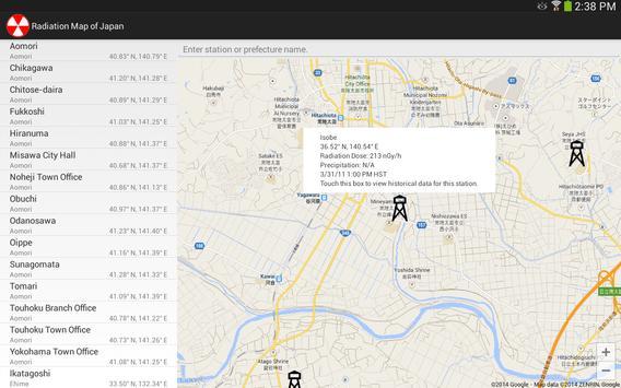 Radiation Map of Japan screenshot 5
