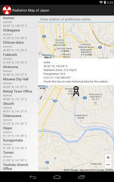 Radiation Map of Japan screenshot 9