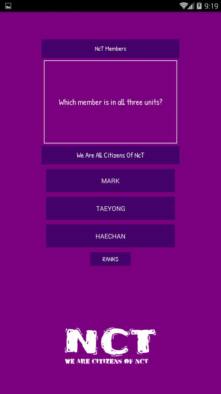 NcT Quiz for Android - APK Download