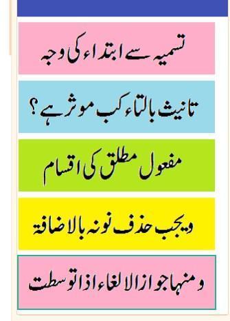 misbah un nahw hidayatun nahw urdu sharah pdf for Android - APK Download