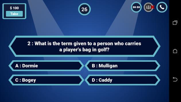 Millionaire Quiz - Fun Trivia Quiz Game screenshot 2