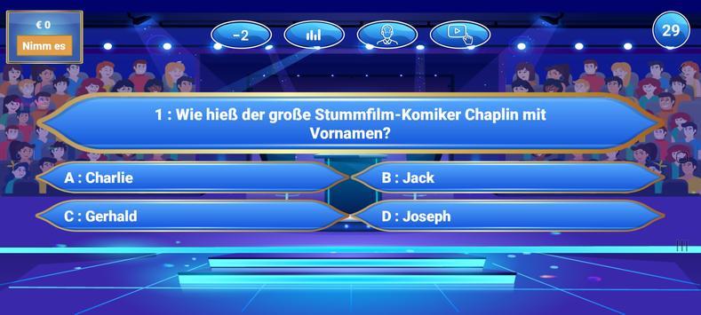 Neuer Millionär 2021 - Trivia Quiz game in German screenshot 2