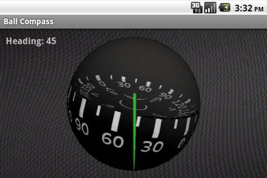Ball Compass 3D poster