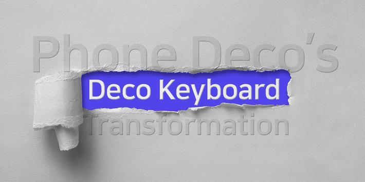 Deco Keyboard poster
