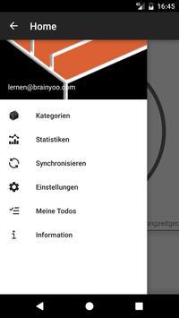 BRAINYOO: Karteikarten, Abfrage, und Lern App Screenshot 1