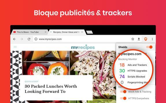 Navigateur internet privé Brave: private browser capture d'écran 5