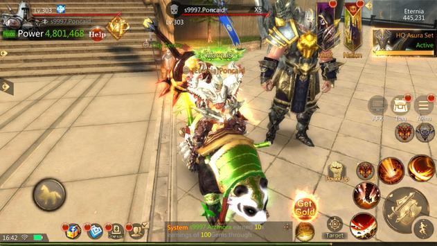 Brave Blades: Discord War 3D Action Fantasy MMORPG imagem de tela 14