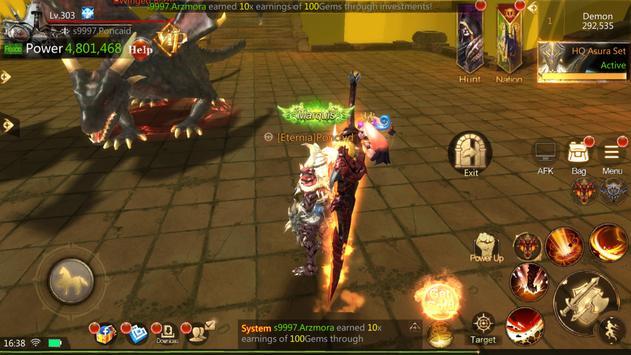 Brave Blades: Discord War 3D Action Fantasy MMORPG imagem de tela 5