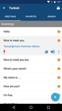 Learn Turkish Free - Phrasebook | Translator screenshot 1
