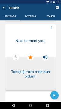 Learn Turkish Free - Phrasebook | Translator screenshot 2