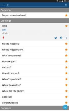 Learn Mandarin Chinese Phrases/Chinese Translator screenshot 7