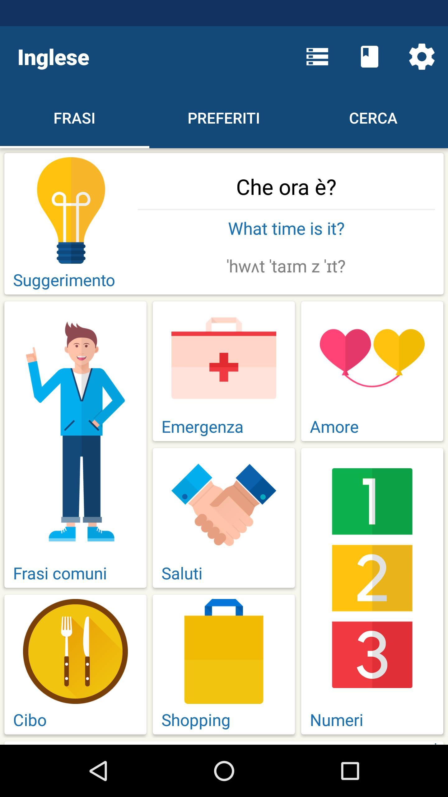 Impara gratis l'inglese - Frasario   Traduttore for ...