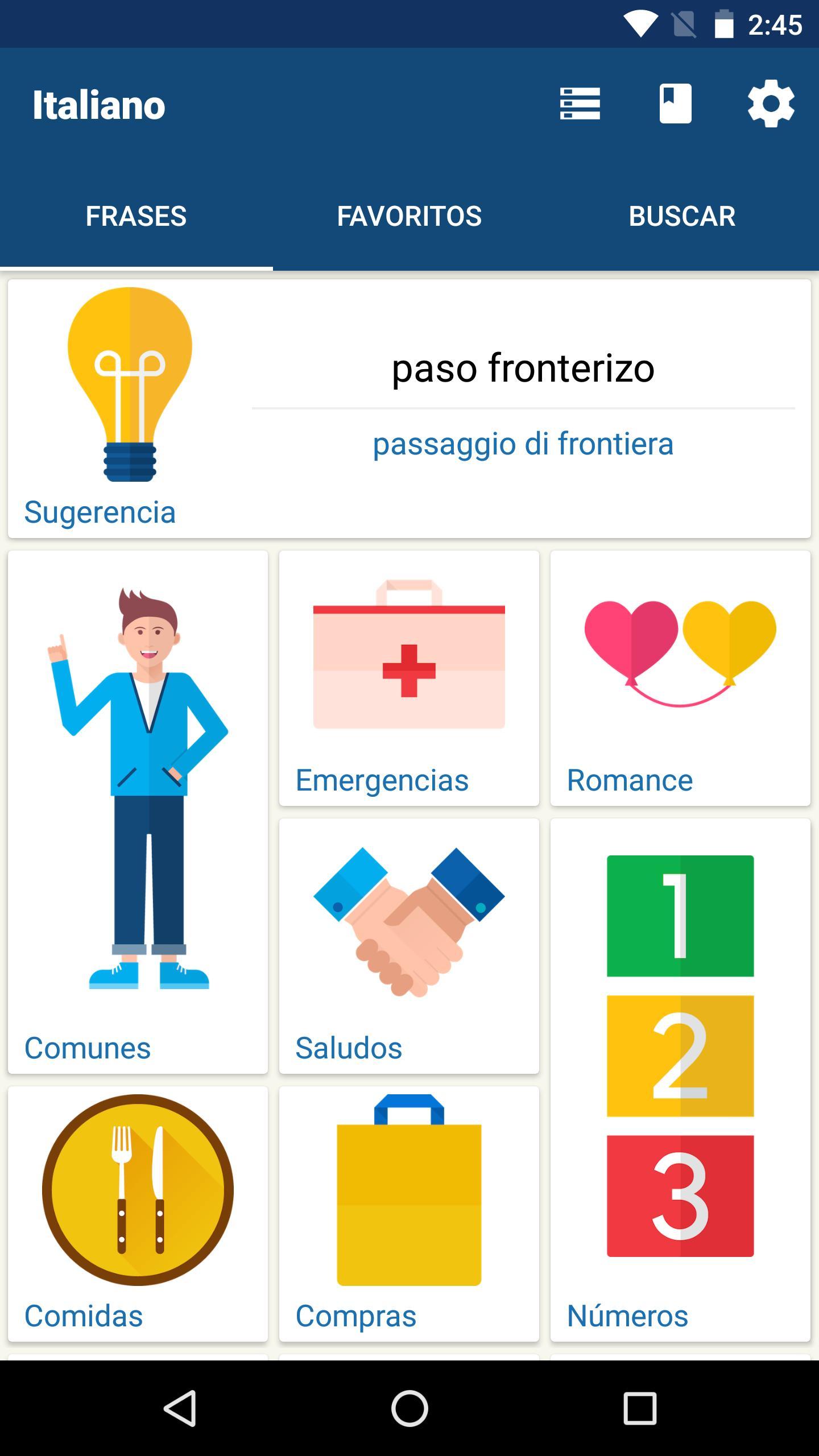 Aprenda Italiano Libro De Frases Traductor For Android