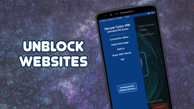 Master Secure Turbo VPN - Free VPN Proxy Server ⚡⚡ screenshot 3