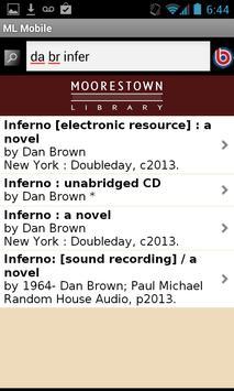 Moorestown Library Mobile screenshot 1