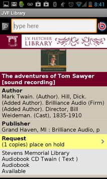 J.V. Fletcher Library screenshot 2